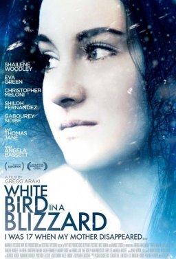 Бяла птица в снежна буря